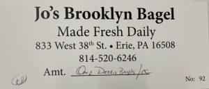 Jo's Brooklyn Bagel gift certificate