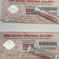 Krispy Kreme certificates