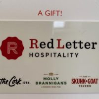 Red Letter Hospitality card